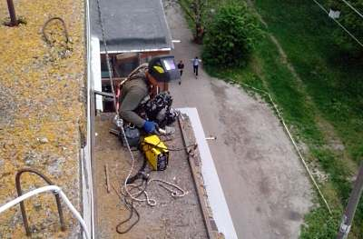 Ремонт даху гад балконом